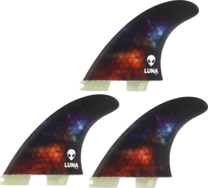 LUNASURF MEDIUM THRUSTER FCS2 NEBULA 3fin set