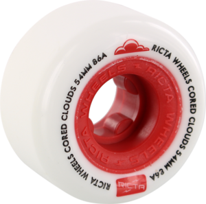 RICTA CORED CLOUDS 54mm 86a WHT/RED x4