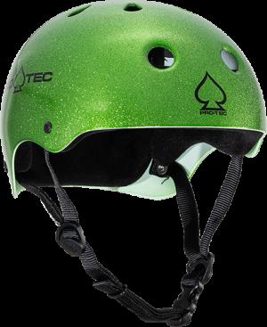 PROTEC CLASSIC CANDY GREEN FLAKE-XL HELMET
