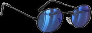 GLASSY CAMPBELL BLK/BLU MIRROR SUNGLASSES POLARIZE