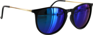 GLASSY SIERRA BLK/GOLD/BLU SUNGLASSES POLARIZED