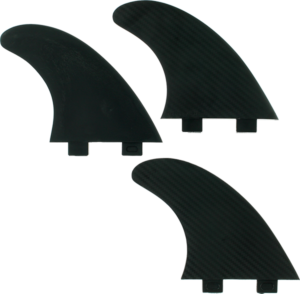 FIN SOLUTIONS FCS LARGE BLACK 3fin set