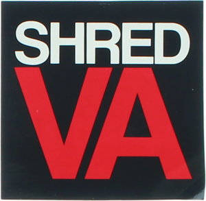 SHRED STICKERS PRINTED SHRED VA STACK 3