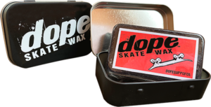 DOPE SKATE WAX BLK W/RECTANGLE TIN STASH BOX