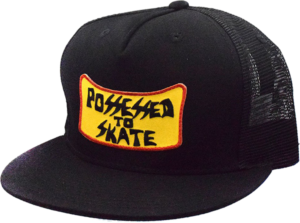 SUICIDAL POSSESSED TO SKATE PATCH MESH HAT ADJ-BLK