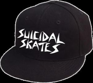 SUICIDAL SKATES LOGO HAT ADJ-BLACK