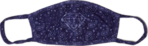 DIAMOND FACE MASK - BANDANA BLU