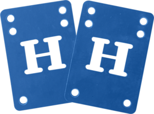 BLANK H-BLOCK RISER SET 2mm BLUE 2pcs