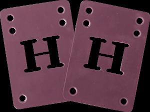 BLANK H-BLOCK RISER SET 2mm PURPLE 2pcs