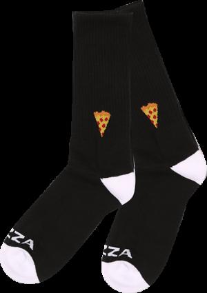 PIZZA EMOJI CREW SOCKS BLACK 1pr