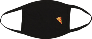 PIZZA EMOJI MASK BLACK