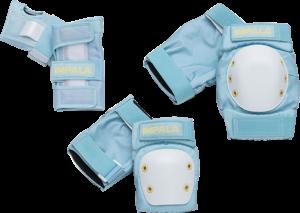 IMPALA ADULT PROTECTIVE PACK PAD SET S-SKY BLU/YEL