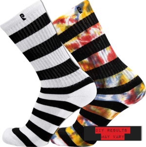 PSOCKADELIC STRIPER CREW SOCKS/DIY TIE DYE KIT