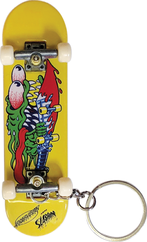 Santa Cruz SLASHER FINGERBOARD KEYCHAIN YELLOW