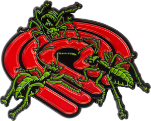 Powell Peralta ANTS LAPEL PIN RED/GRN