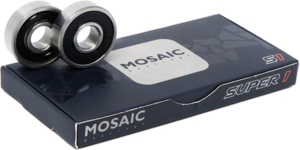 MOSAIC SUPER 1 ABEC-7 BEARINGS SILVER/BLACK