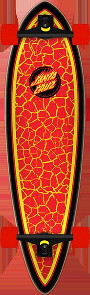 Santa Cruz FLAME DOT PINTAIL COMP-9.2x33