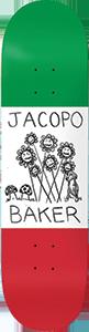 BAKER JACOPO CENTRALE DECK-8.0 GRN/WHT/RED
