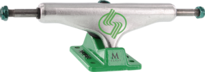 SILVER M-HOLLOW 8.5 POLISHED/GREEN x2
