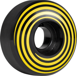 HAZARD CP SWIRL LOGO RADIAL 53mm BLACK x4