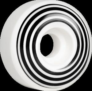 HAZARD CP SWIRL LOGO RADIAL 53mm WHITE x4
