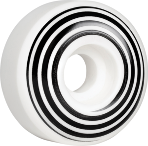 HAZARD CP SWIRL LOGO RADIAL 55mm WHITE x4
