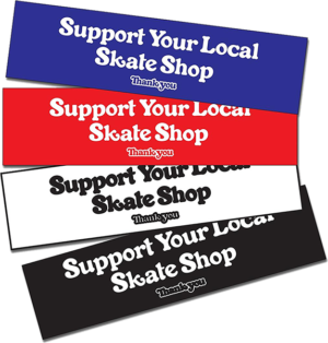 THANK YOU SUPPORT BUMPER STICKER ASSORTED COLORS