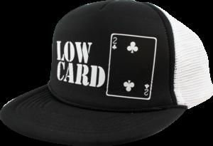 LOWCARD LOGO MESH HAT ADJ-BLK/WHT