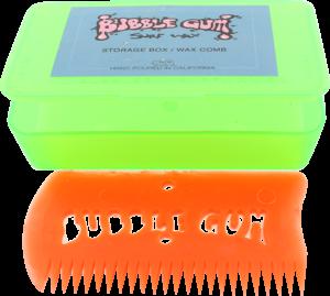 BUBBLE GUM WAX COMB W/BOX GREEN