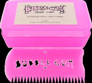 BUBBLE GUM WAX COMB W/BOX PINK