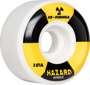 HAZARD CS RADIO ACTIVE CONICAL 56mm WHITE x4