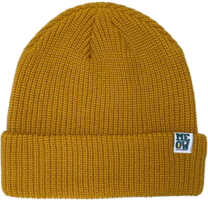 MEOW STACKED LOGO CUFF BEANIE MUSTARD