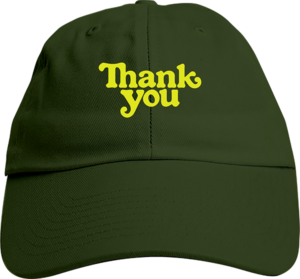 THANK YOU LOGO DAD HAT ADJ-OLIVE