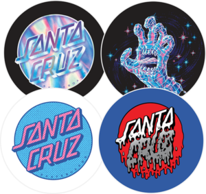 Santa Cruz CRYSTAL BUTTONS 4/PACK SET
