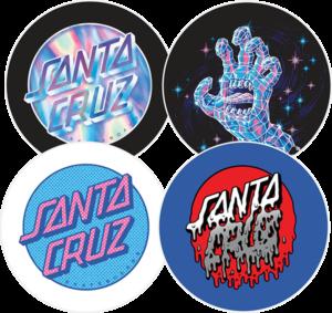 Santa Cruz CRYSTAL BUTTONS 4/PACK SET