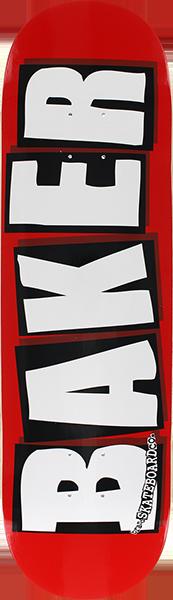 BAKER BRAND LOGO DECK-8.5 RED/WHITE