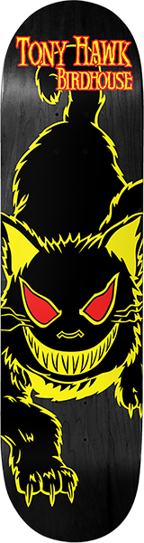 Birdhouse HAWK EVIL CAT DECK-8.0 YELLOW