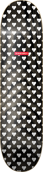 HEART SUPPLY SWEETHEARTS DECK-8.25 BLK/WHT