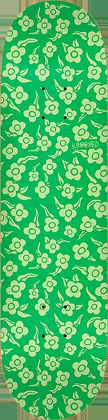KROOKED FLOWERS DECK-8.38 GREEN