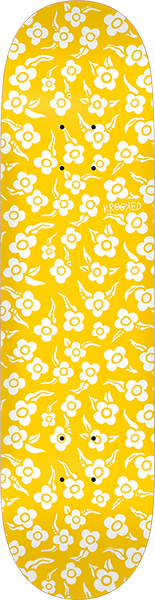 KROOKED FLOWERS DECK-8.5 YELLOW