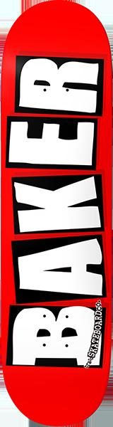 BAKER BRAND LOGO DECK RED/WHT