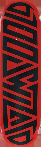 BLOOD WIZARD FUTURE WASTELAND DECK-7.75 RED/BLK