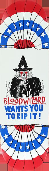 BLOOD WIZARD RIP IT DECK-8.37x31.75 RED/WHT/BLU