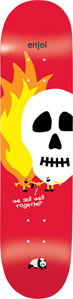 ENJOI SKULLS AND FLAMES DECK-8.25 RED hyb