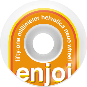 ENJOI HELVETICA 51mm WHT/ORG x4
