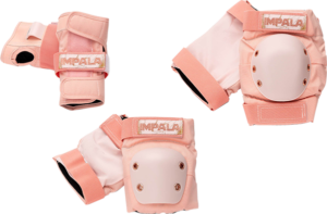 IMPALA ADULT PROTECTIVE PACK PAD SET S-MARAWA ROSE