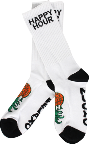 HAPPY HR MUCHO RELAXO CREW SOCKS WHITE
