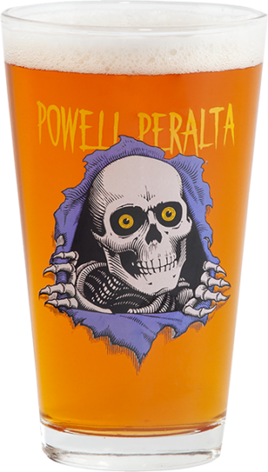 Powell Peralta RIPPER II PINT GLASS CLEAR/BLUE