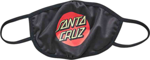Santa Cruz CLASSIC DOT FACE MASK BLACK