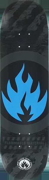BLL CIRCLE FLAME DECK-8.25 BLK/GREY/BLU